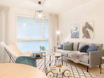 Valokuva Kanvaasin 82-neliöisestä kodista