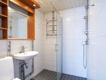 Pesuhuoneen pinnat on uusittu muutama vuosi sitten.