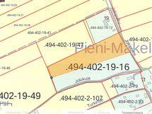Myynnin kohteena ruskealla värillä merkitty alue, mahdollisuus ostaa koko reilu 2 hehtaarin tontti.