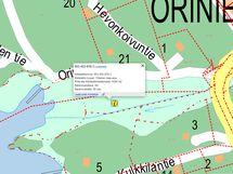Kartta kiinteistöön kuuluvasta yhteisestä maaoikeudesta