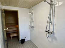 Taloyhtiön juuri valmistunut saunaosasto!