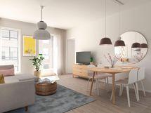 Visualisointi Huvituksen asunnoista