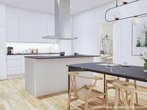 Asunnon A29 visualisointi keittiöstä