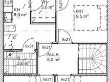 Pohjakuva asunto B3 yläkerta