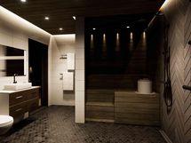 Kylpyhuoneesta käynti terassille (havainnekuva)