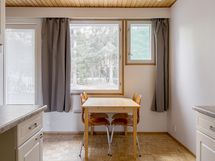 Keittiö ja olohuone suojaisen takapihan puolella