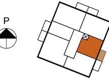 Asunnon 4 sijainti kerroksessa