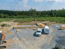 Alueelle rakentumassa omakotitaloalue.