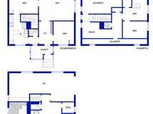 Hyvin tilaa kolmessa kerroksessa