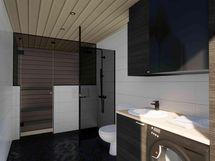 Sauna / kylpyhuone / kodinhoitohuone (havainnekuva)