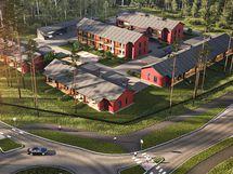 Asuntoja on saatavilla luhtitalojen yksiöistä rivitalojen tilaviin neljän huoneen koteihin.