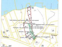 Myytävä kiinteistö kartalla merkitty punaisella