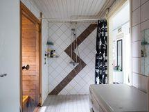 Kolmion kylpyhuone/kodinhoitohuone
