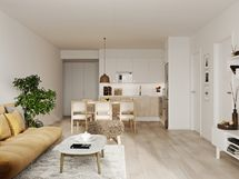 Viitteellinen kuva asunnosta A17, 3h+kt+s, 72,0 m2
