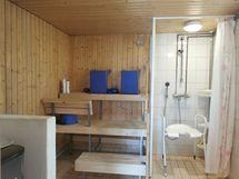 ulkorakennuksen saunatila