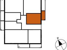 Asunnon B55 sijainti kerroksessa