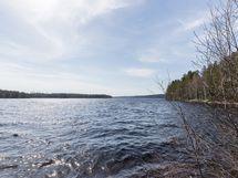Rantamaisemaa Hypinniemen (länteen) suuntaan kuvattuna