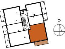 Asunnon F265 sijainti kerroksessa