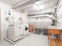 Yhtiössä mm. pyykkitupa