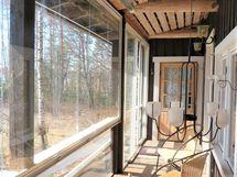 lasitettu veranta