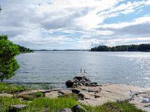 Rantasaunalta näkymä - Utsikt från strandbastun