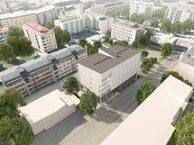 Viitteellinen kuva kohteesta. Jyväskylän Ilmari rakentuu mukavalle paikalle ydinkeskustan ja Tourujoen kaupunkiluontopolun väliin.