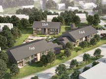 Taloihin rakentuu koteja aina yksiöistä neljän huoneen asuntoihin. Viitteellinen kuva.