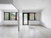 Makuuhuone ja olohuone - Sovrum och vardagsrum