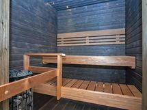 tunnelmallinen saunaosasto ja kivikiuas