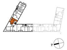 Asunnon B33 sijainti kerroksessa