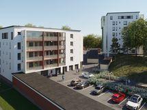 Särkiniemen Keiju sijaitsee omalla tontilla, joka on jaettu hallinnanjakosopimuksella viereisen As Oy Särkiniemen Haltijan kanssa. Viitteellinen kuva kohteesta.