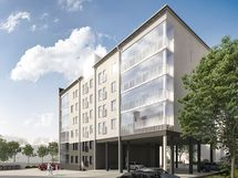 Viitteellinen kuva kohteesta. Ilmarissa on 6 kerrosta, asunnoissa 1-3 huonetta, 26-80,0 m2