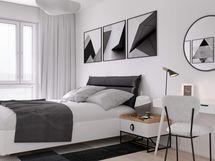 Visualisointi asunnon makuuhuoneesta