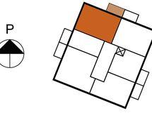 Asunnon 12 sijainti kerroksessa