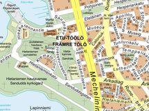 Caloniuksenkatu 2 kartalla