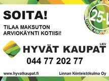 Kohdetta myy ja esittelee Anne Helin puh: 044 715 9774, anne.helin@hyvatkaupat.fi