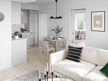 Visualisointi kodista Villa-keittiötyylillä
