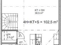 Pohjakuva asunnot B2 ja B4 alakerta