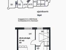 Pohjapiirros+ sijainti- Bottenplan+läge