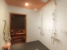 Viitteellinen kuva taloyhtiön saunatilasta.
