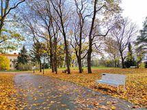 Kaunis Samppalinnanpuisto lyhyen kävelymatkan päässä