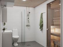 HUOM! Havainnekuva saunallisesta huoneistosta.