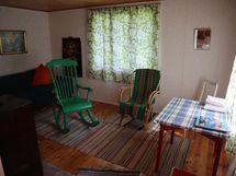 Huone saunarakennuksessa