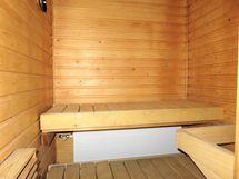 Huoneistossa sauna
