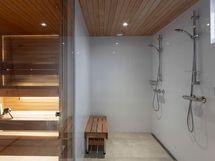 Valokuva saunaosastosta