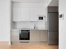 keittiönurkkaus on kompakti ja tyylikäs