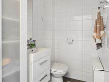 Yläkerran erillinen wc