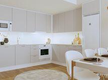 Asunto E29 4h+kt+s 83,0 m2 - keittiötila