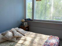 makuuhuone ilta-auringolle
