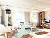 Olohuone asunto A19 2-3h+kt+var 50,5 m2
